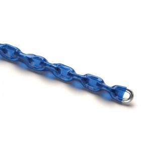 Řetěz pojišťovací tvrzený, pozinkovaný - modrý obal