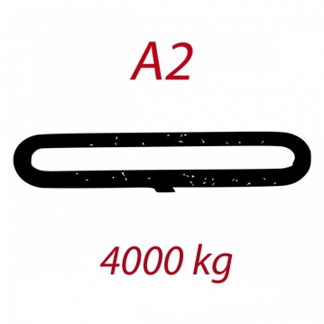 A2 4000kg závěsný popruh plochý nekonečný jednovrstvý šedý šíře 120mm FORANKRA