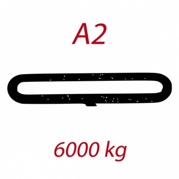 A2 6000kg závěsný popruh plochý nekonečný jednovrstvý hnědý šíře 180mm FORANKRA