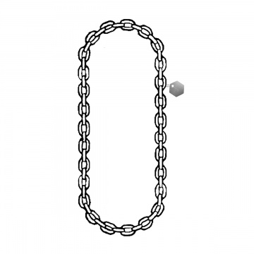 Nerezový vázací řetěz nekonečný svařovaný, 16mm, nosnost 10000kg