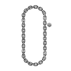 Nerezový vázací řetěz nekonečný svařovaný, 5mm, nosnost 1260kg