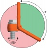 Otočný vázací bod k našroubování - PLAW - Pewag Winner Profilift