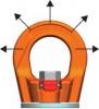 Otočný vázací bod k našroubování - PLGW-SN - Pewag Winner Profilift