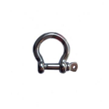 Nerezový třmen omega s čepem, AISI 316-A4, PAVLÍNEK