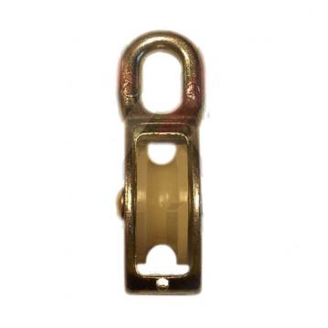 Nylonová kladka jednořadá, pozinkovaná