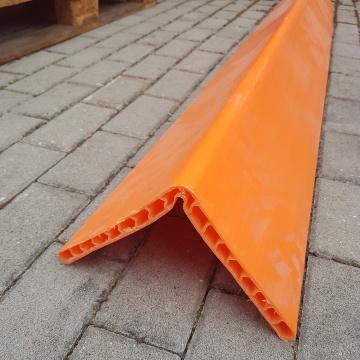 Ochrana hran z PE - typ CP02 oranžová, 19x190x190mm, délka 2m, OVASLING