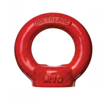 Vysokopevnostní matice s okem, červený lak, DELTA