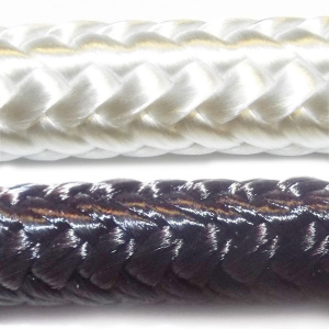 PA lano pletené s jádrem bílé detail