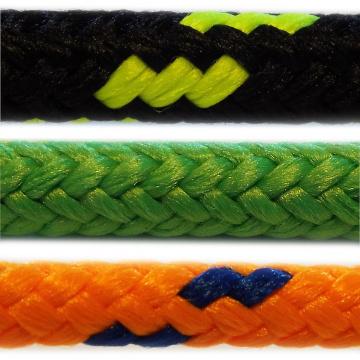 PES - polyesterová lana a šňůry, pletená