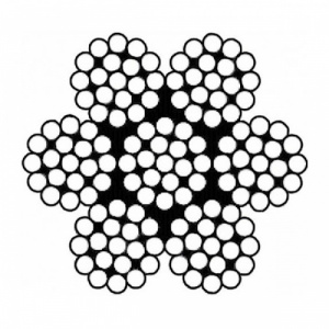 Nerezové lano, konstrukce  7x19, AISI 316