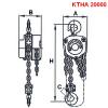 Ruční kladkostroj typ KTHA 20000kg, HAKLIFT_Pavlínek sro-rozměry