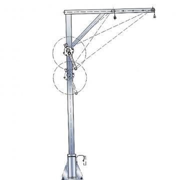 Otočný jeřáb pozinkovaný, 4551.0,3, nosnost 300kg, 700-1300mm, pozink naviják