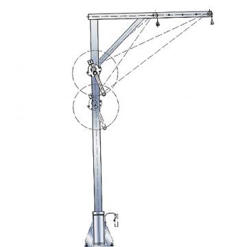 Otočný jeřáb nerezový, 4571.0,3, nosnost 300kg, 700-1300mm, pol.209994