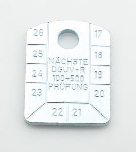 Identifikační štítek-kontrolní, pozinkovaný, WALTERMANN