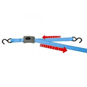Upínací pás s háky a rychloupínáním, l=2,5m, 25mm, BS 500kg
