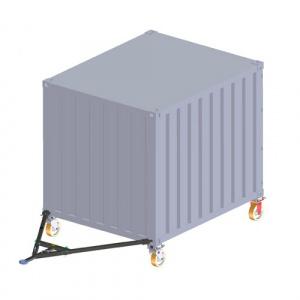 Sada koleček pro kontejnery typ 4336.8 nosnost 80/30kN, výška 430mm, Haacon