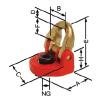 Vázací bod TWN 0121/1 - k šroubování, otočný