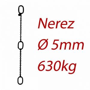 CPK 5, nerezový převěsný řetěz - nosnost 630kg - Pumpenkette