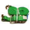 OVASLING, typ 2002 dvoudílný přivazovací pás s dvojitým hrotovým hákem IHD - 1000 daN