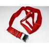 Upínací pás, typ 1001/K, l=2m, jednodílný se sponou, 25mm, LC 125daN, červený