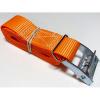 Upínací pás, typ 1001/K, l=2m, jednodílný se sponou, 25mm, LC 125daN, oranžový