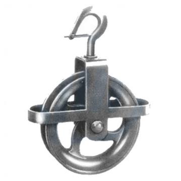 Stavební kladka s hákem, ideální k použití s konopnými lany, SEWOTA - Německo