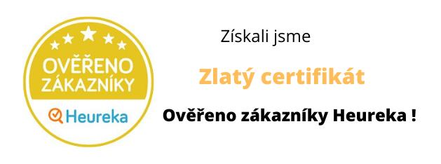 Zlatý certifikát Ověřeno zákazníky Heureka!